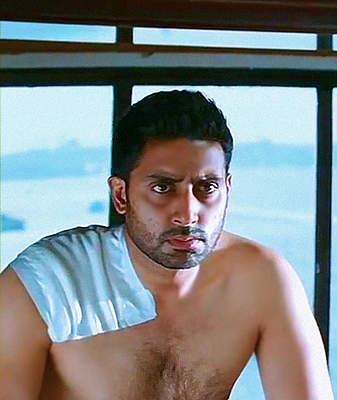 Bollywood wallpaper probably containing a hunk, skin, and a portrait titled ABHISHEK BACHCHAN SHIRTLESS IN GAME