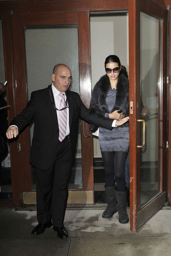 Adriana Lima Leaves a Doctor's Office