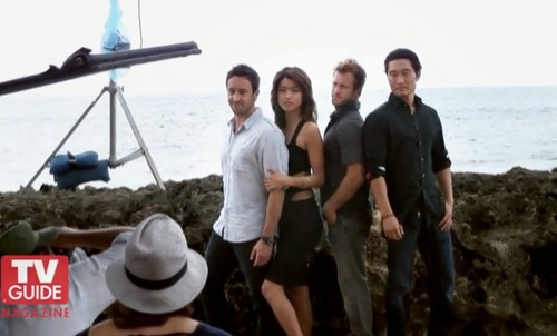 Steve and Kono Hintergrund possibly containing a boater titled Alex & Grace - Hawaii Five-0