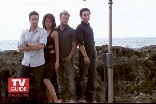 Steve and Kono wallpaper probably with a spearfish, a flathead catfish, and a wind turbine called Alex & Grace - Hawaii Five-0