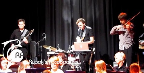 Alex at the anniversary show, concerto of Gjerdrum School 6/11/2011 :)