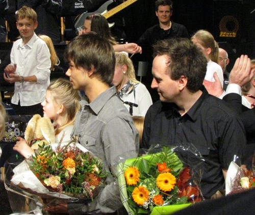Alex at the anniversary konsiyerto of Gjerdrum School 6/11/2011 :)