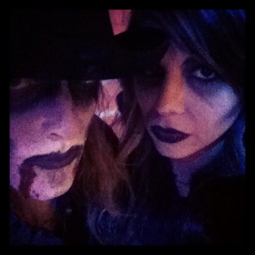Christina and John as zombies