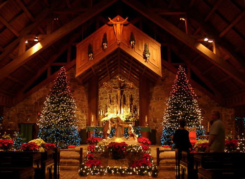 Church Scenes at Christmas