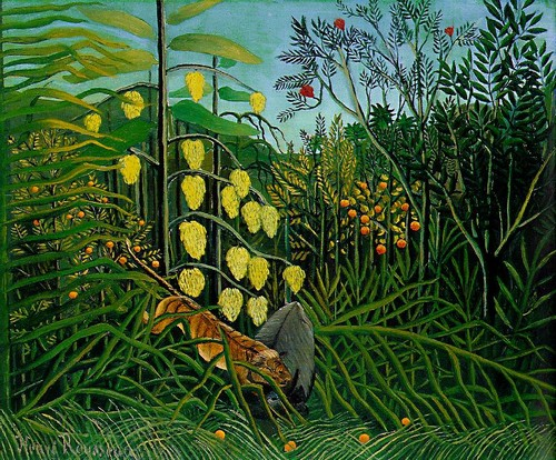 Combat Between Tiger and Buffalo - Henri Rousseau