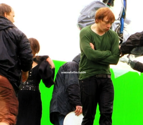 Rupert Grint wallpaper entitled Deathly Hallows Part 2 [Behind the Scenes]