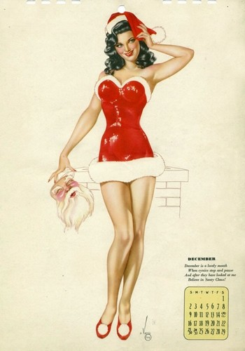 Pin Up Girls wallpaper containing a leotard entitled December Pin Up Girl