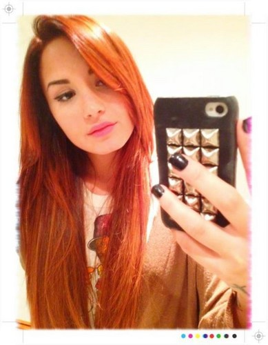 Demi New Red Hair