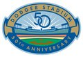 Dodger Stadium 50 Year Anniversary Logo - los-angeles-dodgers photo