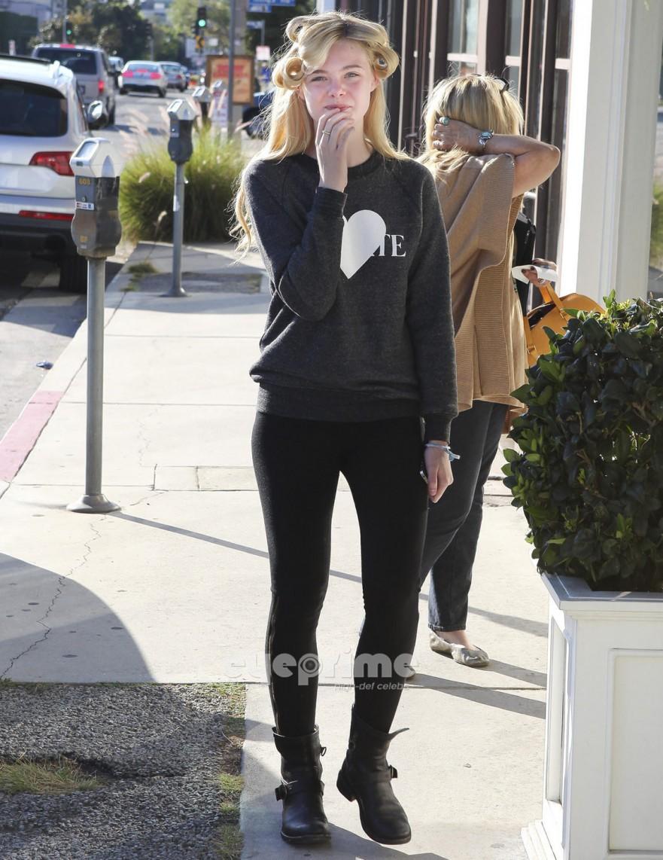 Elle Fanning leaving a Hair Salon in West Hollywood, Nov 7