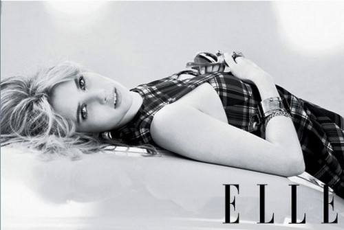 Emma Roberts wallpaper possibly containing a swimsuit, a lingerie, and skin called Emma Roberts Elle Photoshoot