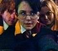 Ginnifer , Josh and Jen Morrison as Harry/Ron/Hermione