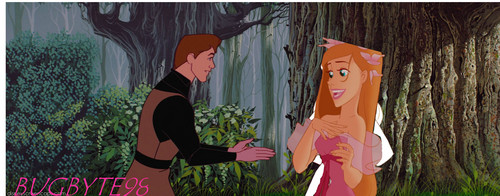 disney crossover wallpaper titled Giselle and Phillip