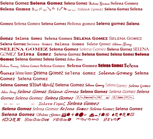 Angelbell619 images how to write selena gomez in different letter angelbell619 wallpaper titled how to write selena gomez in different letter thecheapjerseys Image collections