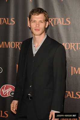Joseph Morgan wallpaper probably containing a business suit called Immortals Los Angeles Premiere