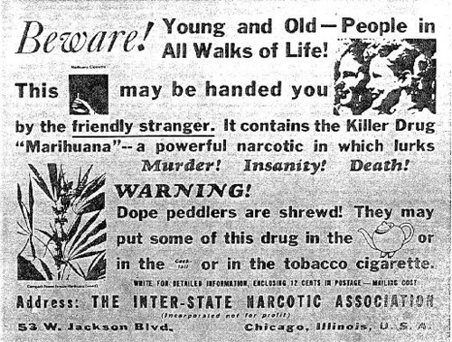 Inter-State Narcotics Association Poster