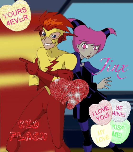 Jinx and Kidflash