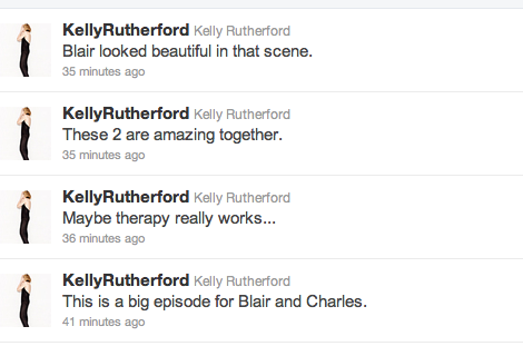 Kelly Rutherford ships Chair