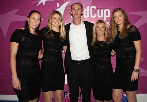 Kvitova and Fed cup team