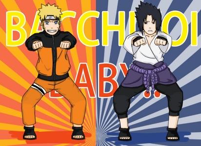 LOL sasuke and naruto dancing