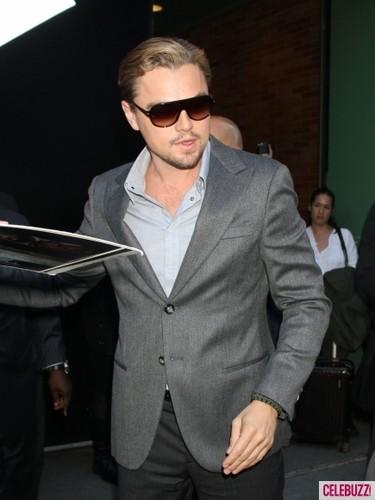 "Leo leaves ""Good Morning America"" studio in New York City"