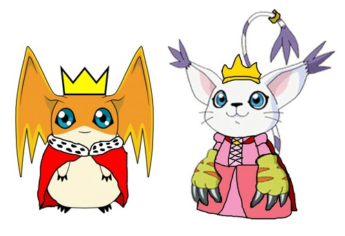 Lord Patamon and Lady Gatomon