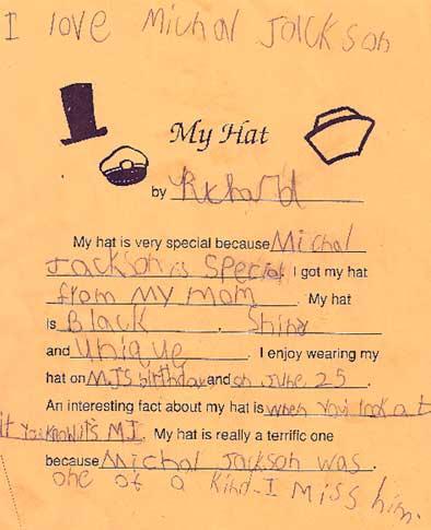 MJ Hat Letter