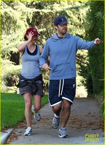 Natalie Portman & Benjamin Millepied Jog in Los Feliz
