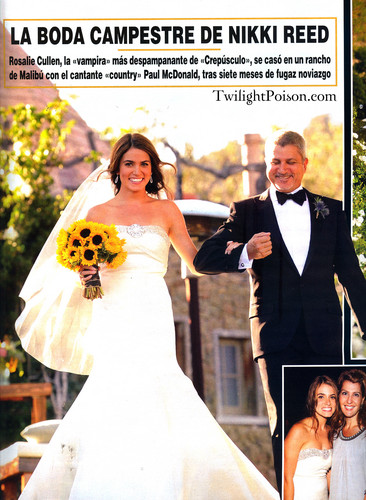 Nikki Reed wallpaper probably containing a business suit titled New Wedding pics in the November issue of  'Hola' magazine (Spain)