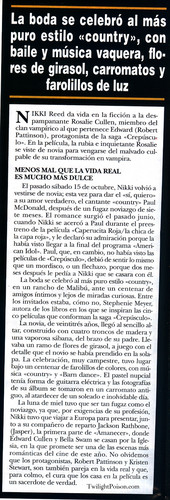 Nikki Reed wallpaper called New Wedding pics in the November issue of  'Hola' magazine (Spain)