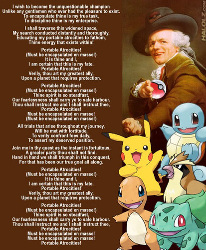pokemon wallpaper possibly containing anime titled Portable Atrocities (Joseph Ducreux Meme)