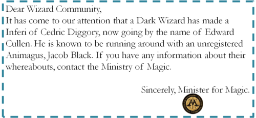 신고 from the Ministry of Magic