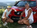Sablikova , Novak and their red car - youtube screencap