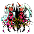 Scanty and Kneesocks - anime fan art