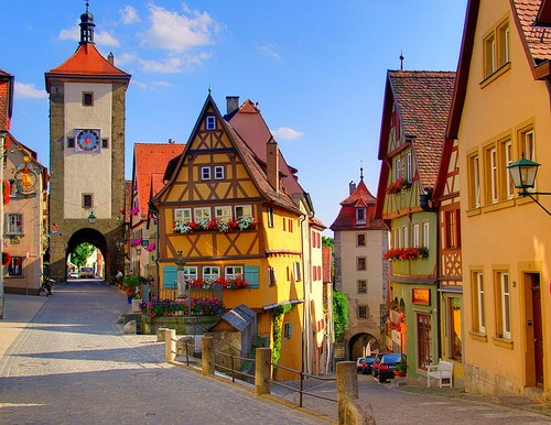 Scenic Village in Rothenburg, Germany