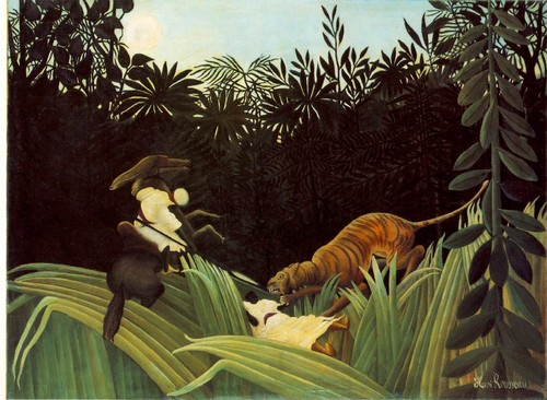 Scout Attacked por Tiger - Henri Rousseau