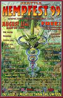 Seattle Hempfest 1999 Poster - marijuana Photo