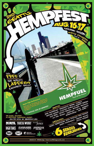 Marijuana wallpaper containing anime entitled Seattle Hempfest 2003 Poster