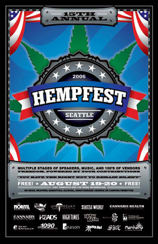 Seattle Hempfest 2006 Final Poster