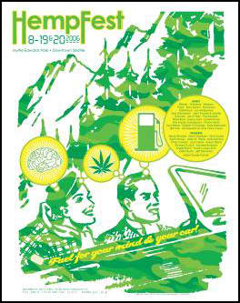 Marijuana wallpaper containing anime titled Seattle Hempfest 2006 Poster
