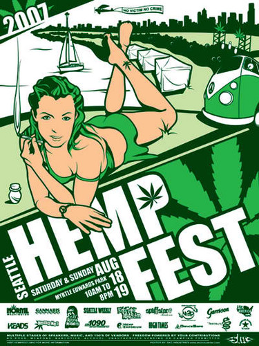 Marijuana wallpaper containing anime entitled Seattle Hempfest 2007 Poster