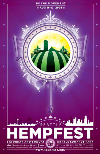 Seattle Hempfest 2008 Poster - marijuana Photo