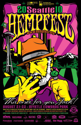 Marijuana wallpaper with anime called Seattle Hempfest 2010 Poster