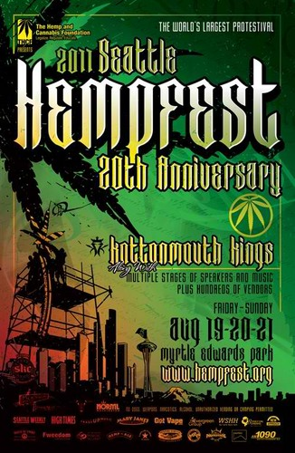 Seattle Hempfest 2011 Poster by Tom Erdmann