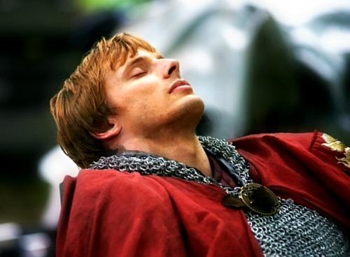 Shhhhhhhhhh Arthur Is Sleeping...Go Read KBrand's Fic Titled Frost...Beautiful.