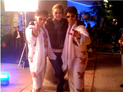 Stana with Seamus Dever & Jon Huertas