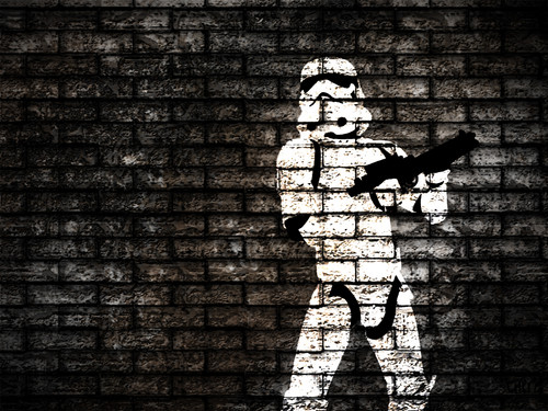 stella, stella, star Wars wallpaper containing a strada, via entitled Stormtrooper wallpaper