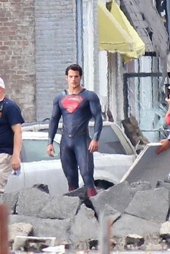 Superman in full costume