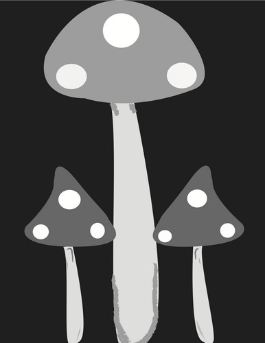 Symmetrical mushrooms