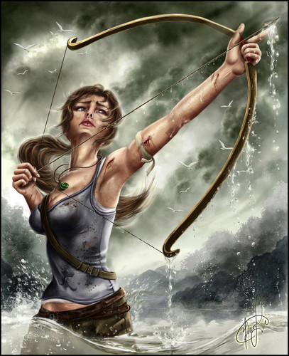 "Tomb Raider 15th Anniversary Projet ""Tomb Raider reboot by =Aida20 - tomb-raider-reboot Fan Art"